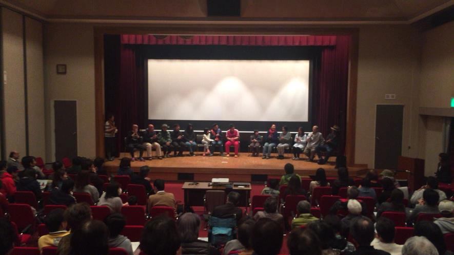 馬杉監督と町民キャストによるトークショー